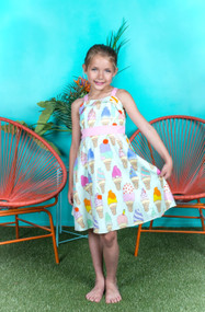 Lovely Cotton Print Kids Dress For Summer Party
