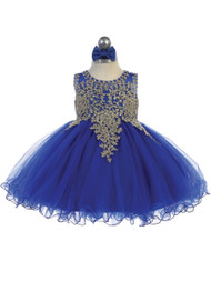 Darling Infant Baby Pageant Dress With Lace Overlay Bodice
