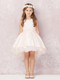 Gorgeous Flower Girl Communion Dress With Hi Lo Tulle Skirt