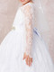 Stunning White Communion Dress With Long Lace Sleeves