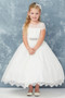 All Over Lace 1st Communion Dress With Illusion Neckline
