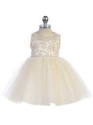Adorable Baby Party  Special Occasion Dress With Illusion Neckline