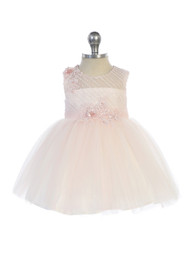 Special Occasion Party Dress For Baby With Embroidered Lace Accent