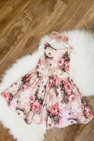 Lovely Floral Print Taffeta Girls Special Occasion Dress