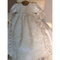 Stunning Silk Christening With Embroidered Lace Overlay