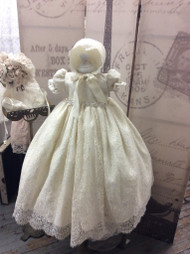 Vintage Lace Couture Christening Gown For Baby