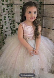 Amalee Couture Beautiful Flower Girl Tulle Dress