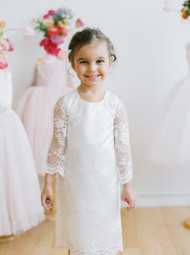 Girls All Over Lace A Line Communion Dress By Amalee Couture