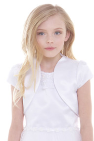 The Classic Satin Bolero For Flower Girl Communion Dress