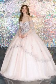 Magnificent Quince Gown With Off The Shoulder Sweetheart Neckline