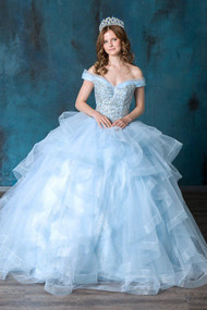 Special Occasion Beaded Off The Shoulder Chiffon Gown For Quince