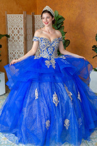 Gorgeous Quince Ball Gown With Crystal Embroidered Bodice