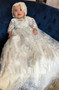 Gorgeous Couture Hand Crafted Beaded Lace Baptismal Gown
