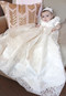 Couture Baby Baptismal Gown In Luxurious  Alencon Lace