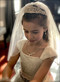 Girls Beautiful Hand Made 1st Communion Veil With Pearls