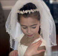 Stunning Pearl Headband For First Communion