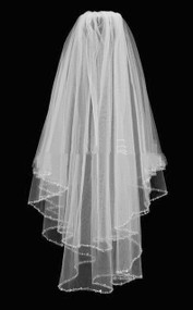 Girls Traditional Crystal Rhinestone Veil For First Communion