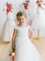 Amalee Couture First Communion Dress In Satin And Tulle