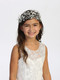 Floral Crystal Beaded Headpiece With Lovely Satin Ribbon Tie