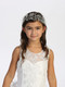 Beautiful Beaded Floral Headpiece With Satin Ribbon
