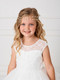 Girls Elegant Crystal And Pearl Headpiece With Satin Tie