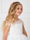 First Communion Sparkling Silver Crystal Floral Headpiece