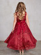 Girls Glitter A Line Pageant Dress With Sweetheart Neckline