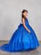 Stunning Girls Winner Glitter Pageant Dress With Train