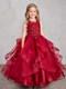 Beautiful Organza Horse Tail Ruffled Pageant Dress For Girls