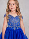 Girls Gorgeous Off The Shoulder Pageant Dress With Lace Applique