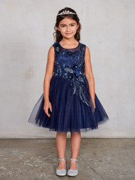 Adorably Cute Short Tulle Pageant Dress With 3 D Flowers