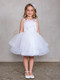 Beautiful Girls Short Pageant Dress With Illusion Neckline