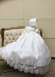 Gorgeous Chantilly Lace Couture Christening Gown For Baby