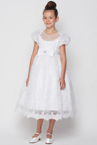 Luxury Couture First Communion Dress With Bateau Neckline