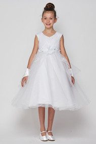 Blush Luxury Couture  1st Communion Dress With Beaded Bodice