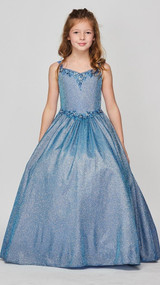 Gorgeous Metallic Two Tone Luxury Couture Pageant Dress For Girls