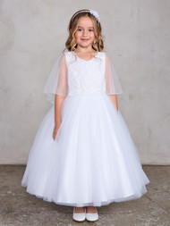 Simply Beautiful Girls First Communion Tea Length Dress
