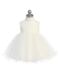 Lovely Baby Party Dress With Beaded Bodice And Tulle Skirt