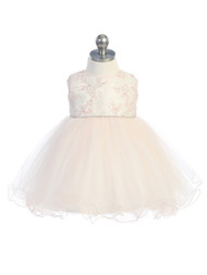 Infant Tulle Baby Party Dress For Special Occasion