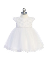 Infant Baby Party And Special Occasion Dress With Beaded Bodice