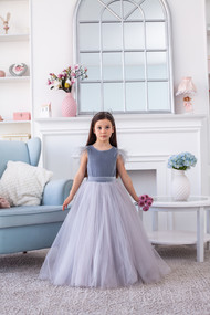 Gorgeous Floor Length Velvet Tutu Flower Girl Party Dress