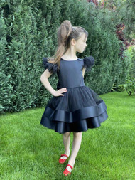 Girls Special Occasion Birthday Dress With Satin And Tulle Skirt