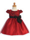 Little Girls Special Occasion Dress With Floral Jacquard Bodice
