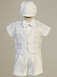 Shantung Infant Toddler Baptismal Christening Short Pants Outfit