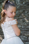 Macis Couture Exquisite Beaded Lace Flower Girl Communion Dress