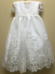 Macis Couture Design Christening Baptismal Short Taffeta Dress