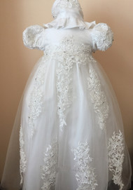 Gorgeous Venice Lace Infant Christening Dress By Macis Couture Design