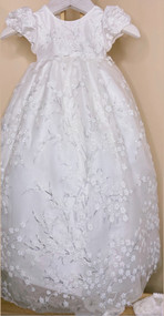 Macis Couture Gorgeous Baby Baptismal Dress With Matte Beading