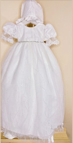Macis Couture Design Baby Beaded Tulle Baptismal Christening Gown