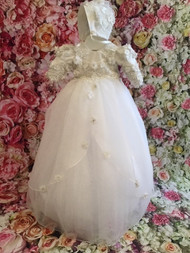 Beautiful Organza Lace Christening Gown By Christie Helene